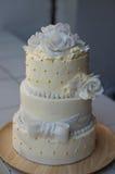 La torta nunziale immagine stock