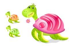 La tortue avec des rss se connectent son interpréteur de commandes interactif illustration de vecteur