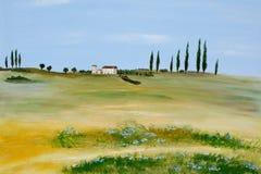 La Toscana acrilica Fotografie Stock