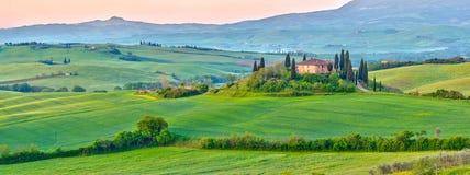 La Toscana alla molla fotografie stock libere da diritti