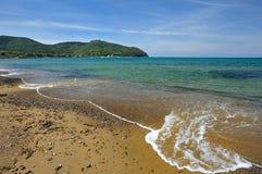 La Toscana, Italia, la spiaggia al golfo di Baratti Fotografia Stock Libera da Diritti