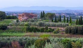 La Toscana, Italia - paesaggio Fotografia Stock Libera da Diritti