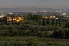 La Toscana, Italia - paesaggio Immagini Stock Libere da Diritti