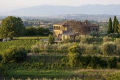 La Toscana, Italia - paesaggio Fotografie Stock Libere da Diritti