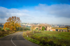 La Toscana - strada Immagine Stock Libera da Diritti