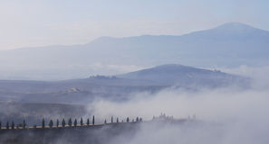 La Toscane à l'aube Photo stock