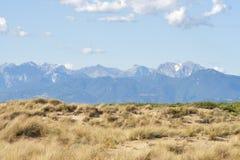 La Toscane a abandonné le paysage avec des dunes et des montagnes de sable Photos libres de droits