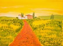 La Toscane acrylique Image libre de droits