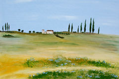 La Toscane acrylique Photos stock