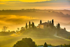 La Toscane au début de la matinée Image libre de droits