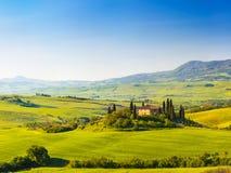 La Toscane au ressort Photographie stock libre de droits