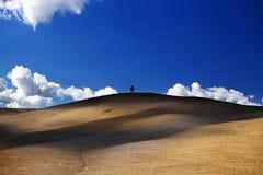 La Toscane - panorama, collines et pré de paysage Photo libre de droits