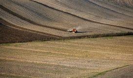 La Toscane - panorama, collines et pré de paysage Photos libres de droits