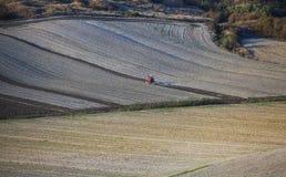 La Toscane - panorama, collines et pré de paysage Images libres de droits