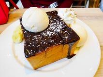 La tostada del chocolate es deliciosa Fotografía de archivo
