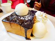 La tostada del chocolate es deliciosa Fotos de archivo