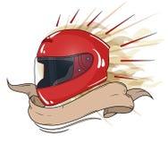 La totalità del casco di Moto Fotografia Stock