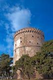 La tour blanche à la ville de Salonique images libres de droits