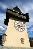 La tour d'horloge à Graz Images libres de droits