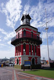 La tour d'horloge de style gothique victorienne est une icône du vieux chapeau Image libre de droits