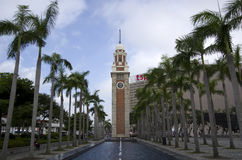 La tour d'horloge Hong Kong Photo stock