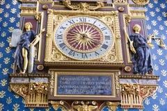 La tour d'horloge (visite de l'Horloge) - Paris Photographie stock