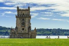 La tour de Belem est une tour enrichie ? Lisbonne photo libre de droits