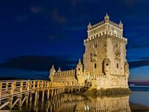 La tour de Belem, Portugal images libres de droits