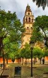 La tour de Bell comme vu du patio de visibilité directe Naranjos Photo stock