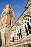 La tour de Bell de la cathédrale d'Amalfi Images stock