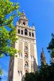 La tour de la cathédrale de St Mary de voient, Séville, Espagne photographie stock