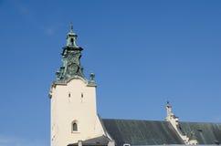 La tour de cloche de la cathédrale de l'acceptation de Vierge Marie (cathédrale latine) Photo libre de droits