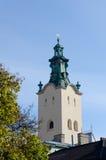 La tour de cloche de la cathédrale de l'acceptation de Vierge Marie (cathédrale latine) Images libres de droits