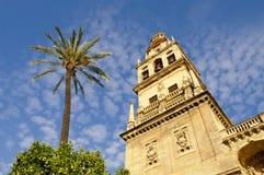 La tour de cloche de la mosquée grande à Cordoue Images stock