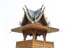 La tour de cloche du temple, la tour de cloche du bois Photographie stock