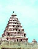 La tour de cloche de palais de maratha de thanjavur Photos stock
