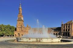 Plaza de Espana (place de l'Espagne), Séville, Espagne image libre de droits