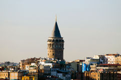 La tour de Galata Photo libre de droits