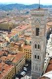 La tour de Giotto à Florence, Italie Images libres de droits