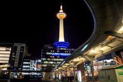 La tour de Kyoto est la plus grande à Kyoto à une taille de 131 mètres Photo libre de droits