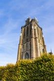 La tour de l'église a appelé Grote Kerk, Dordrecht, Pays-Bas images libres de droits