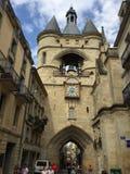 La Tour de L' Horloge ( la grosse cloche) 红葡萄酒,法国 免版税库存照片