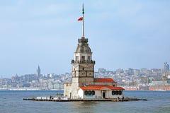La tour de la fille à Istanbul, Turquie Image libre de droits