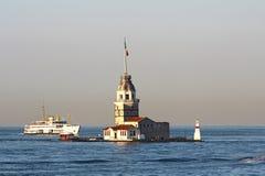 La tour de la jeune fille à Istanbul, Turquie photographie stock libre de droits