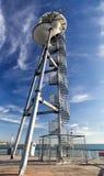 La tour de lancement à l'extrémité du pilier de Bournemouth Image libre de droits