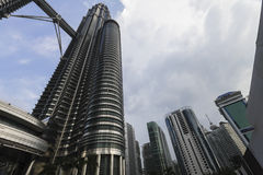 La tour de Petronas en Kuala Lumpur Images stock