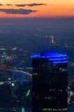 La tour de Rialto et l'observation d'étoile de Melbourne roulent dedans Melbourne, Australie photographie stock
