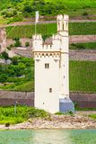 La tour de souris, Bingen suis Rhein photos libres de droits