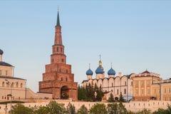La tour de Soyembika à Kazan Kremlin, Russie image libre de droits