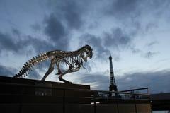 La tour de trellis de fer de Tour Eiffel sur le Champ de Mars à Paris, France Il est baptisé du nom de l'ingénieur Gustave Eif photo libre de droits